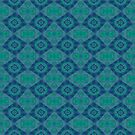 Jade and Blue Repeating Aurora Pattern by taiche