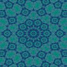 Jade , Aqua and Turquoise Symmetrical Pattern by taiche