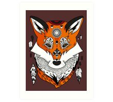 Fox Head Art Print
