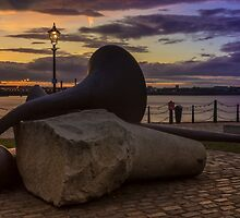 Sculpture at sunset by Paul Madden