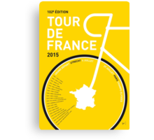 My Tour de France Minimal poster Canvas Print