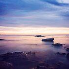 Misty Sunset by Amy Dee