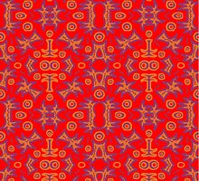 tribal bright - red!   (©k.denmark) by Kay Denmark