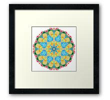 Psychedelic jungle kaleidoscope ornament 22 Framed Print