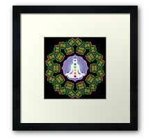 Psychedelic jungle kaleidoscope ornament 23 Framed Print