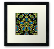 Psychedelic jungle kaleidoscope ornament 24 Framed Print
