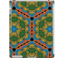 Psychedelic jungle kaleidoscope ornament 26 iPad Case/Skin