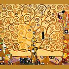 Gustav Klimt - The tree of life by Selfcontrol