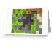 Pixel Mining Play Area 1 Greeting Card