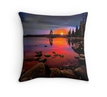 Waldo Lake ~ Sunset ~ Throw Pillow