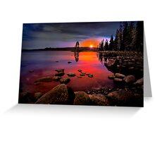 Waldo Lake ~ Sunset ~ Greeting Card