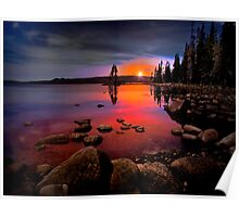 Waldo Lake ~ Sunset ~ Poster