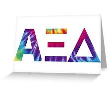 alpha xi delta tie dye Greeting Card