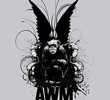 All Weather Monkeys Pedestal Monogram by Alterian