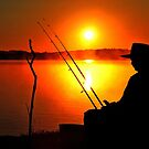 Lake Samsonvale at sunrise. Brisbane, Queensland, Australia. by Ralph de Zilva