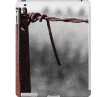 Rusty wire and post. iPad Case/Skin
