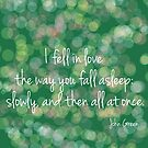 I fell in Love in Green by VieiraGirl