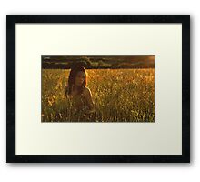 the meadow at dusk Framed Print