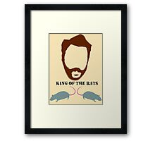 ALL HAIL THE KING (OF THE RATS) Framed Print