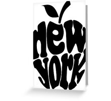 Big Apple New York, black Greeting Card