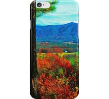 VIEW FROM RICH MTN.,AUTUMN iPhone Case/Skin