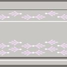 Feathers design in concrete, pink and white by goanna
