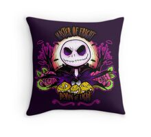 Master of Fright Throw Pillow