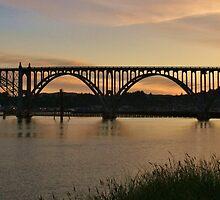 Yaquina Bay Bridge at Sunrise by Randy Richards