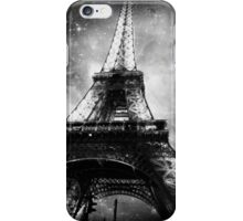 Eiffel Tower, Starry Night, Black and White iPhone Case/Skin