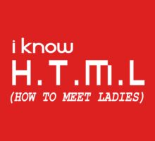 I KNOW H.T.M.L (HOW TO MEET LADIES) by awesomegift