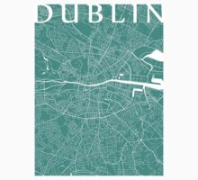 Dublin Map (Turquoise) Kids Clothes
