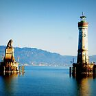 Lindau Harbour with Lion and Lighthouse by ©The Creative  Minds