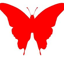 Red Butterfly by kwg2200