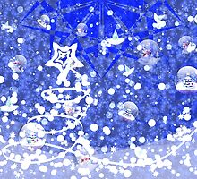 Blue Christmas background by AnnArtshock