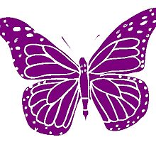 Purple Butterfly by kwg2200