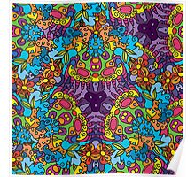 Psychedelic jungle kaleidoscope ornament 30 Poster