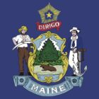 US State- Maine Flag by cadellin