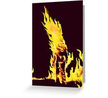 BURNING MAN (Flames) Greeting Card