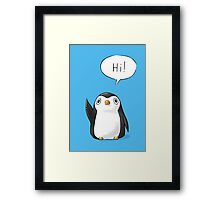 Hi Penguin Framed Print