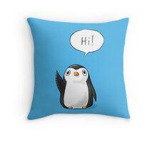 Hi Penguin Throw Pillow