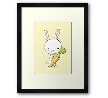 Bunny Carrot 2 Framed Print