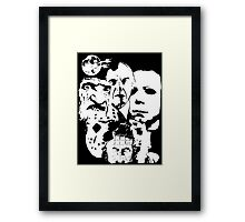 Horror Icons! Framed Print