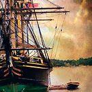 Docked at Sunset  by John Rivera