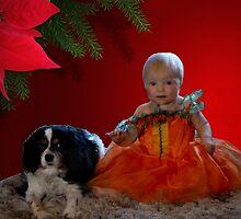 Hallowwen princess and dog by Sandra Caven