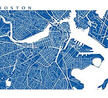 Boston Map by CartoCreative