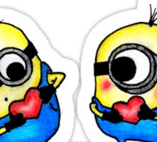 Minion Love Sticker