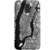 New York City Black and White Map - NYC Samsung Galaxy Case/Skin