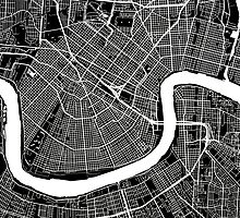 New Orleans (Black) by CartoCreative