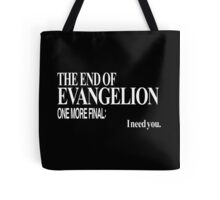 Neon Genesis Evangelion - I need you. Tote Bag