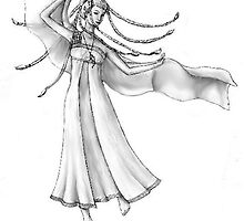 Dancing elven maiden by violetwinter